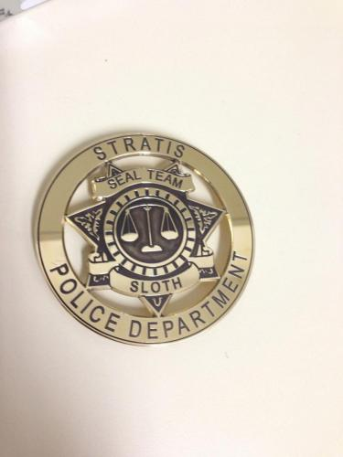 Custom badges from Infinity Engraving