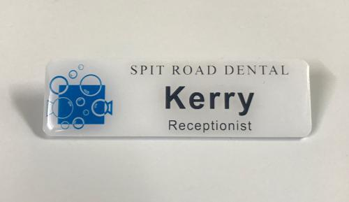 Name badges from Infinity Engraving